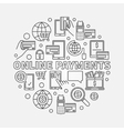 Online payments linear vector image vector image