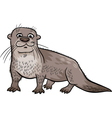 otter animal cartoon vector image vector image