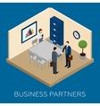 Partnership Concept Isometric vector image