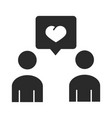 people message love community and partnership vector image vector image