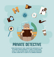 private detective concept vector image vector image