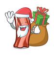 santa with gift ribs mascot cartoon style vector image vector image