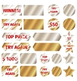 Scratch card elements vector image vector image