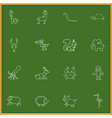 set of 16 editable animal icons includes symbols vector image vector image