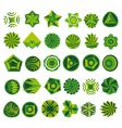 set of green logo vector image