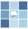 set of wave background vector image vector image