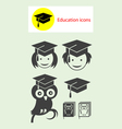 Student icons vector image