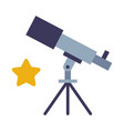 telescope discovery and explore galaxy and space vector image
