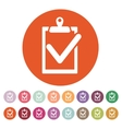 The clipboard icon checklist symbol Flat vector image vector image