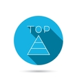 Triangle icon Top or best result sign vector image