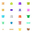 various pots icons set flatr style vector image