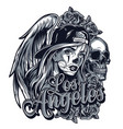 vintage chicano style tattoo concept vector image vector image