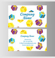 voucher card gift box vector image vector image