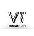 vt v t lines letter design with creative elegant vector image vector image