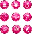 wedding button icons vector image