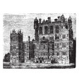 wollaton hall a country house vintage engraving vector image vector image