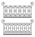 wrought iron fence vector image vector image