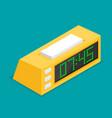 digital clock flat icon vector image