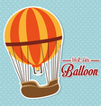 Airballoon design over blue background vector image