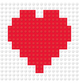 Heart Shape created from building toy bricks vector image