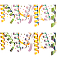 holiday streamers vector image