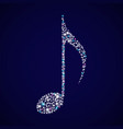 a brilliant musical note vector image vector image