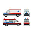 ambulance service cars various views of ambulance vector image