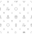 avatar icons pattern seamless white background vector image vector image