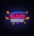 black friday sale neon sign black friday vector image