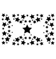 black star abstract backgrund collection vector image vector image
