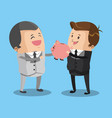 business teamwork with piggy vector image vector image