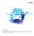 car icon - watercolor background vector image