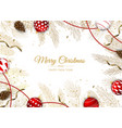 christmas greeting card with tree vector image vector image
