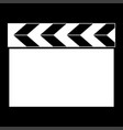 cinema clapper it is the white color icon vector image