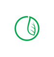 circle leaf eco logo vector image vector image