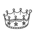 crown party icon doodle hand drawn or outline vector image