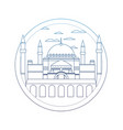 degraded line taj mahal in india and nice vector image vector image