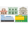 different building vector image