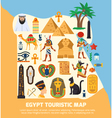 Egypt Touristic Map vector image vector image