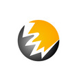 energy power icon bolt vector image vector image