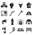 Fireman tools icons set simple style vector image vector image