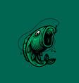 fish design logo vector image vector image