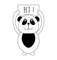 Funny panda bear children animal for book t-shirt vector image
