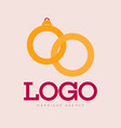 gold line wedding rings icon isolated on white vector image