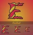 Halloween decorative alphabet - E letter vector image