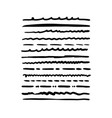 hand drawn grunge brushes set artistic pen vector image