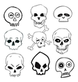 Hand Drawn Skull Set vector image vector image