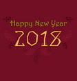 happy new year 2018 folk numerals vector image