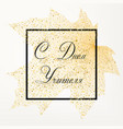 happy teachers day card with autumn leaf vector image vector image