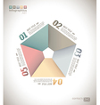 Infographic design - original paper vector image vector image